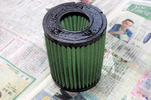 Green Filter オイル付着