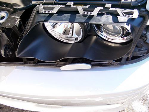 BMW E46 フロントライトインナーカバー黒