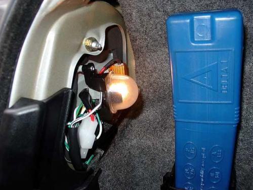 DEPO製LEDライトのトランク内部の状態