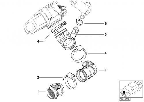 BMW E46 エアマスメーターの交換