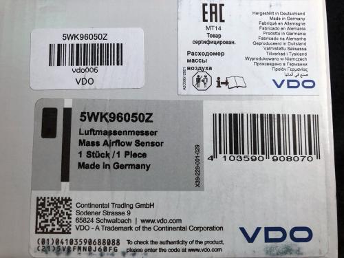 BMW E46 VDO製のエアフロセンサー