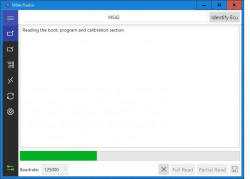 MS4X Flasherの画面