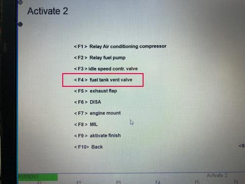ACTIVATEの一覧からfuel tank vent valveを選択