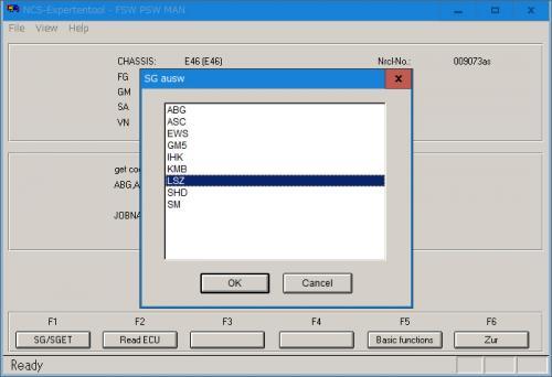 NCS-Expert モジュール選択画面