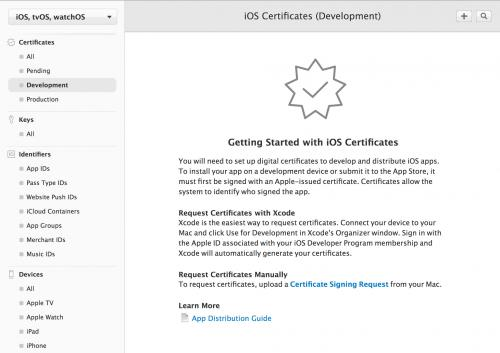 iOS Development証明書の作成