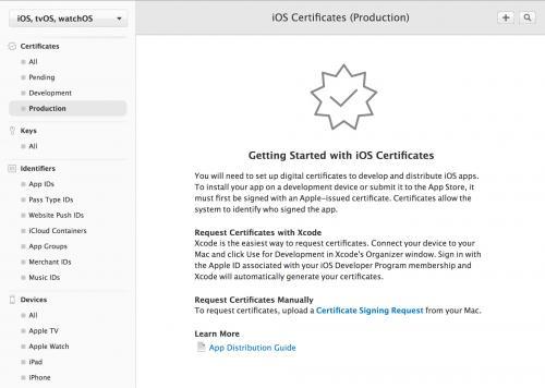 iOS Production証明書の作成