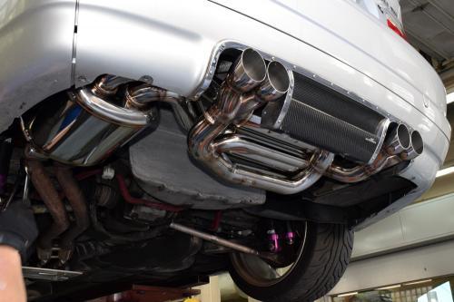 BMW E46 M3サクラム Spec3マフラー装備完了